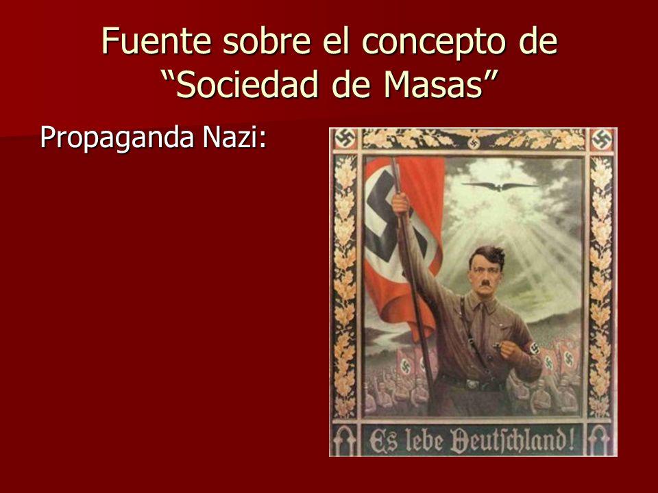 Fuente sobre el concepto de Sociedad de Masas