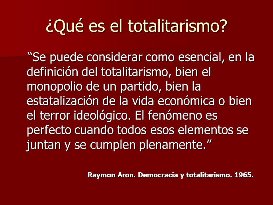 ¿Qué es el totalitarismo