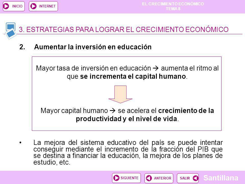 3. ESTRATEGIAS PARA LOGRAR EL CRECIMIENTO ECONÓMICO