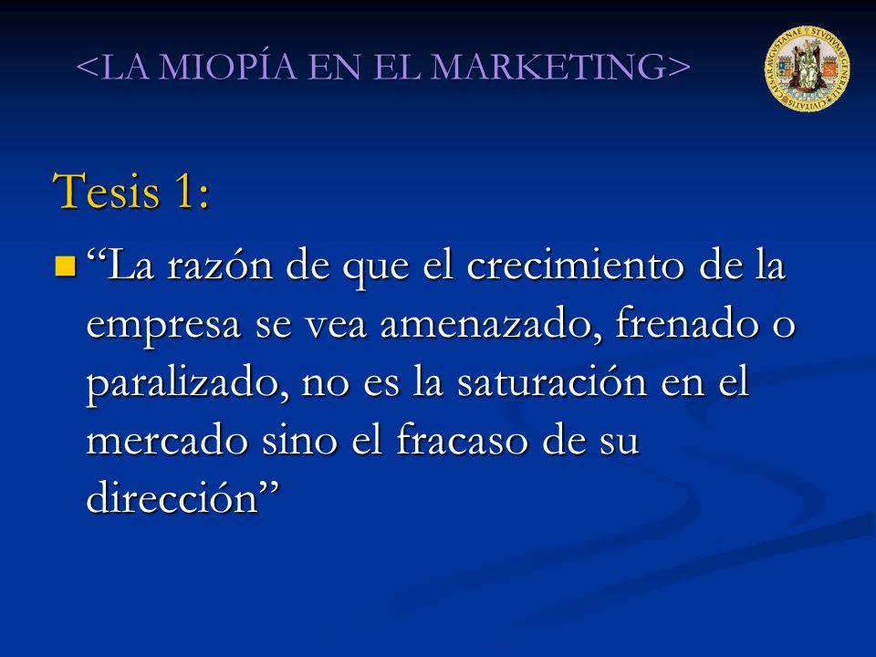 <LA MIOPÍA EN EL MARKETING>