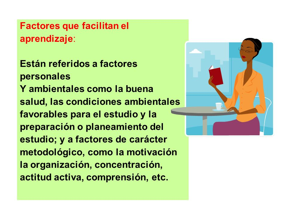 Factores que facilitan el
