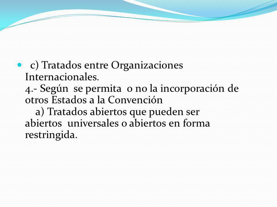 c) Tratados entre Organizaciones Internacionales. 4