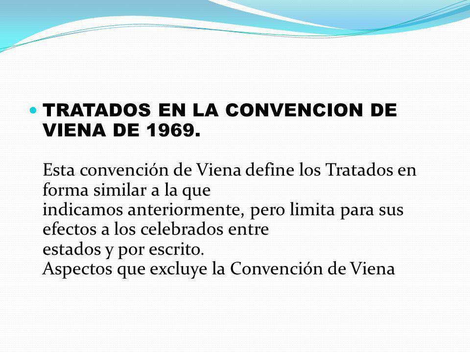 TRATADOS EN LA CONVENCION DE VIENA DE 1969