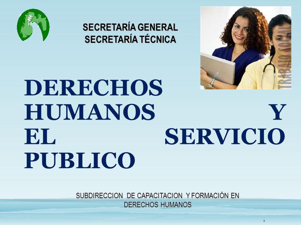 DERECHOS HUMANOS Y EL SERVICIO PUBLICO