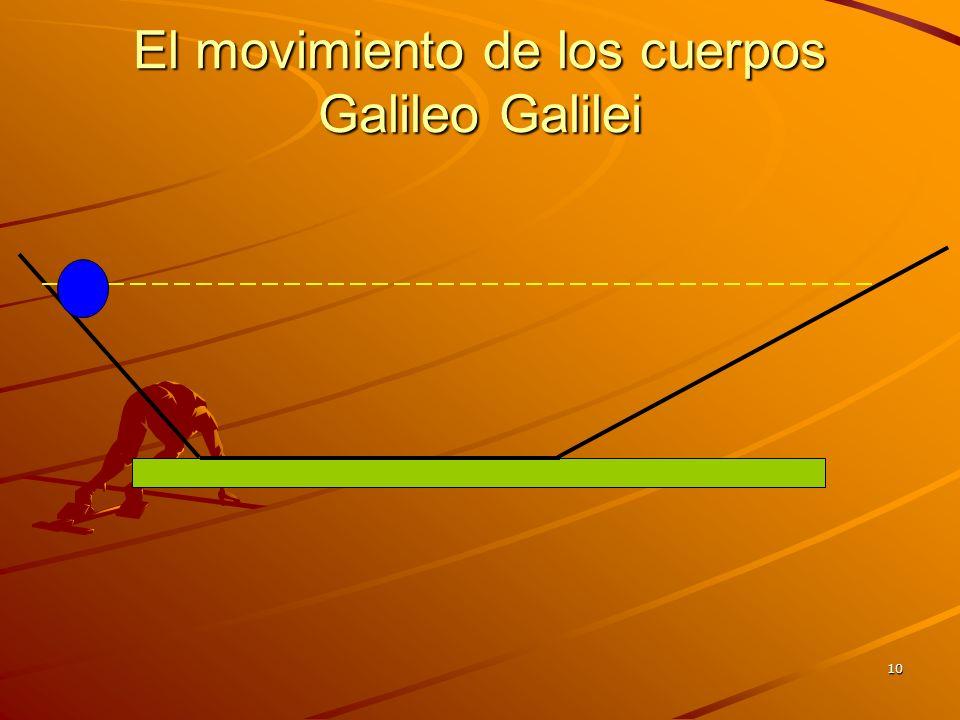 El movimiento de los cuerpos Galileo Galilei