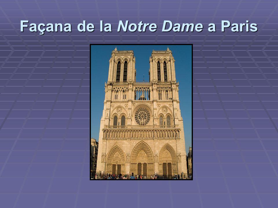Façana de la Notre Dame a Paris
