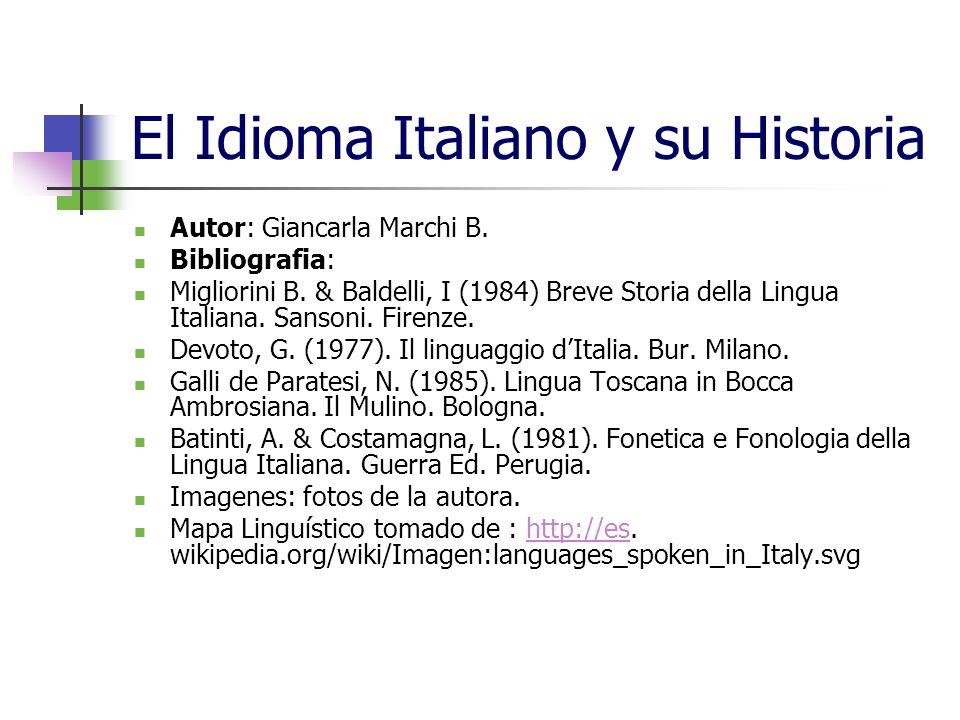 El Idioma Italiano y su Historia