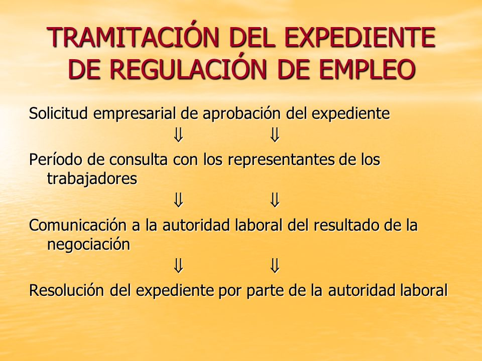 TRAMITACIÓN DEL EXPEDIENTE DE REGULACIÓN DE EMPLEO