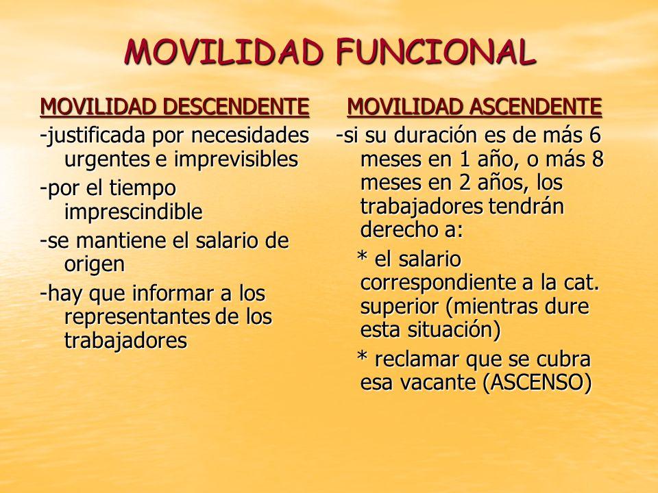 MOVILIDAD FUNCIONAL MOVILIDAD DESCENDENTE