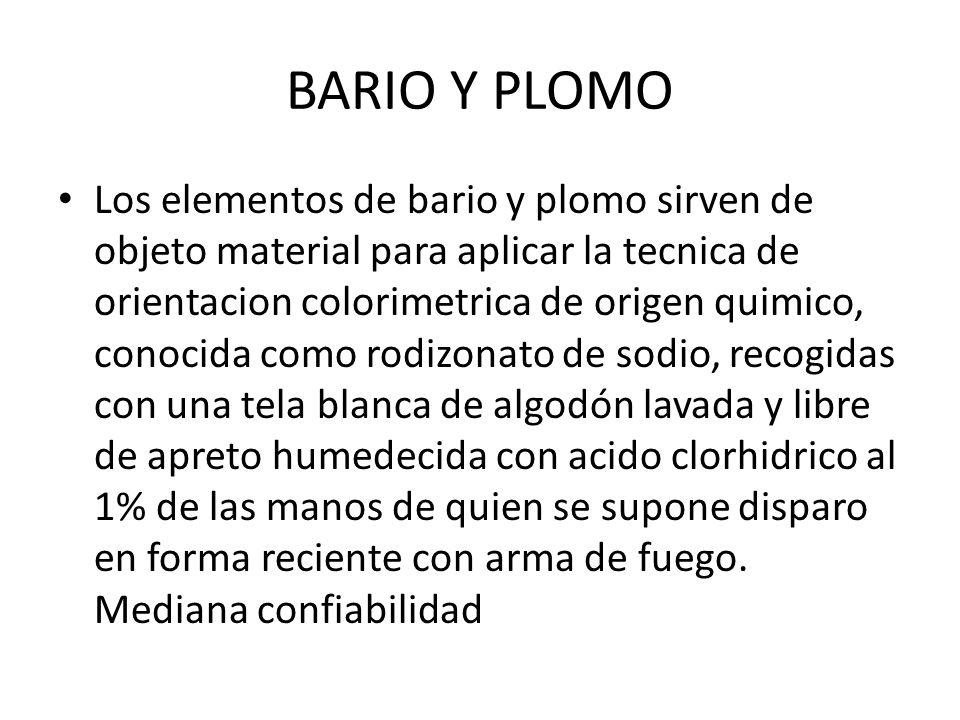 BARIO Y PLOMO
