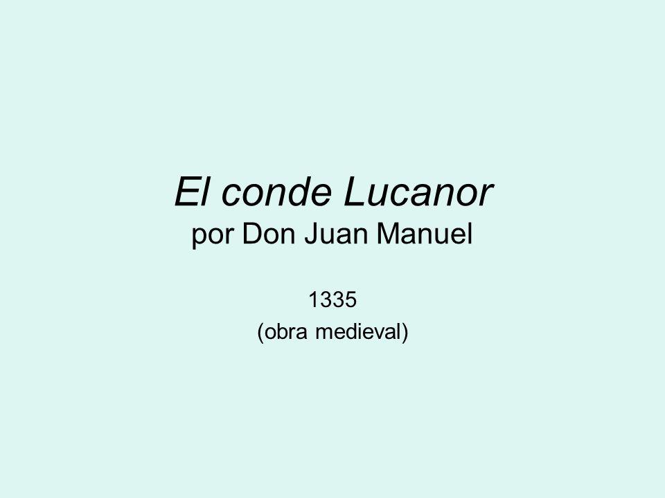 El conde Lucanor por Don Juan Manuel