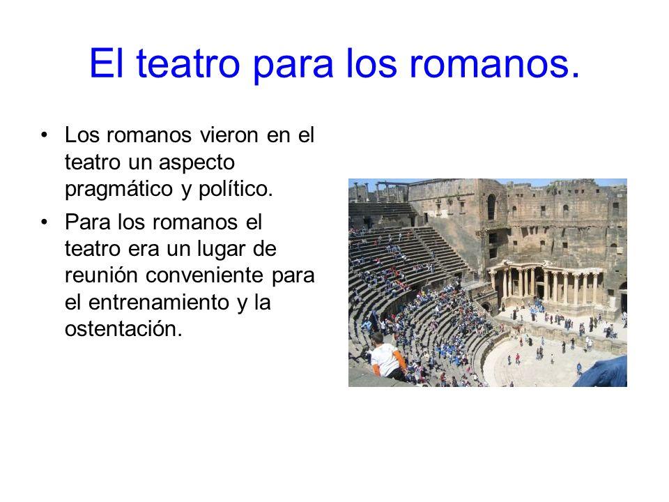El teatro para los romanos.