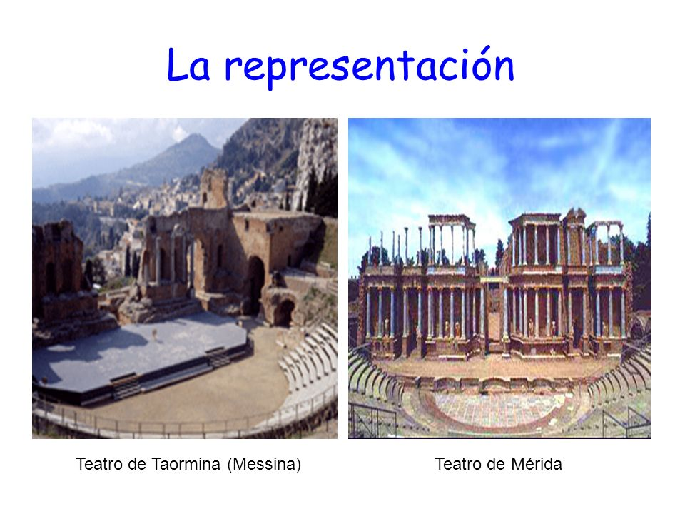 La representación Teatro de Taormina (Messina) Teatro de Mérida