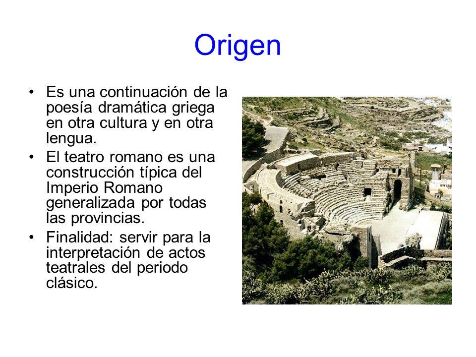Origen Es una continuación de la poesía dramática griega en otra cultura y en otra lengua.