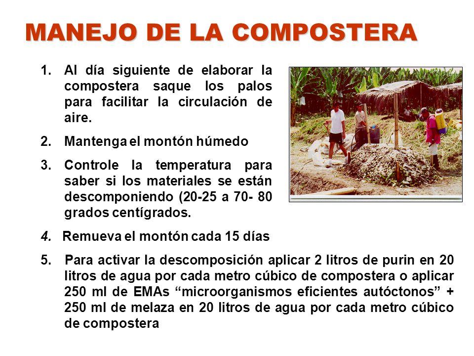 MANEJO DE LA COMPOSTERA