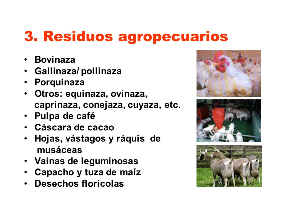 3. Residuos agropecuarios