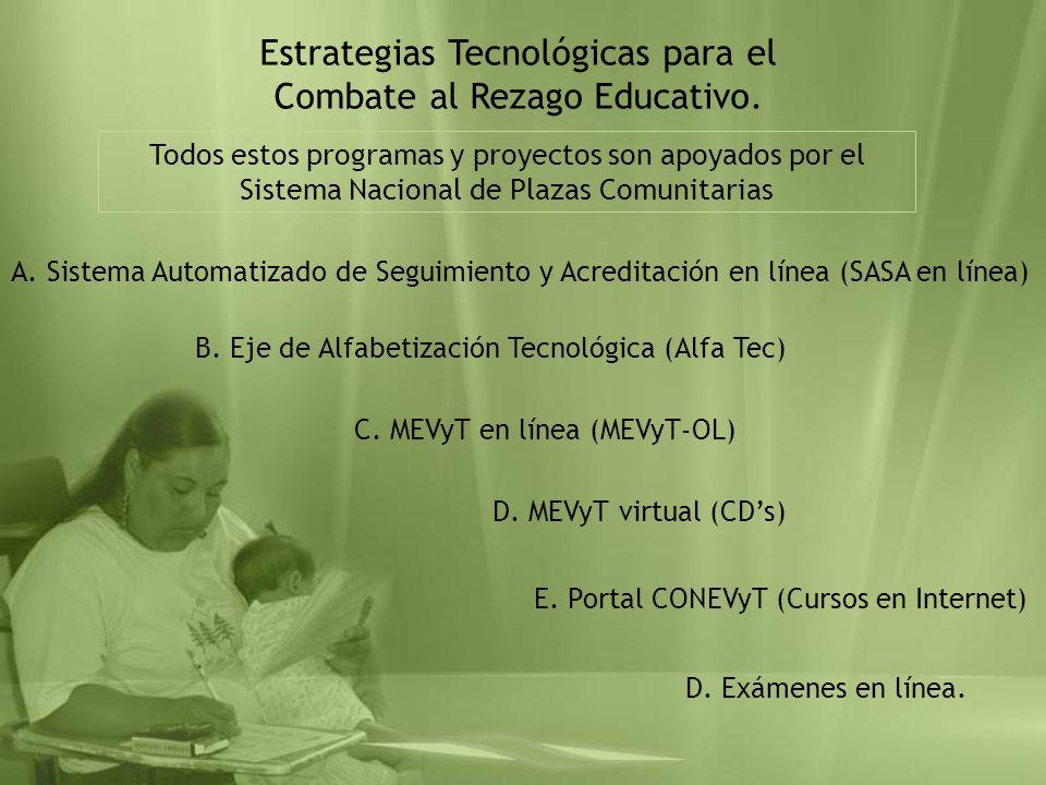 Estrategias Tecnológicas para el Combate al Rezago Educativo.