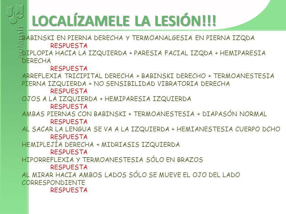 LOCALÍZAMELE LA LESIÓN!!!