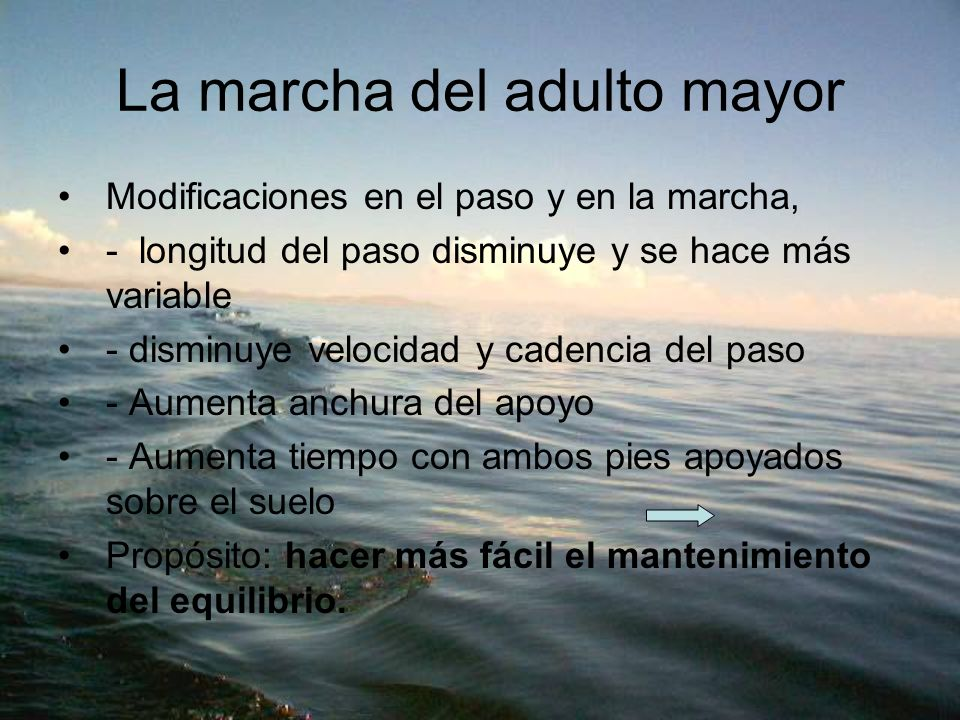 La marcha del adulto mayor