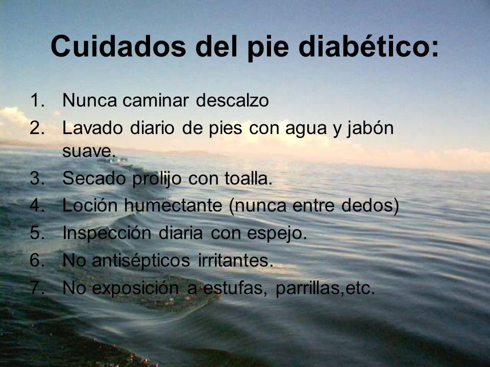 Cuidados del pie diabético: