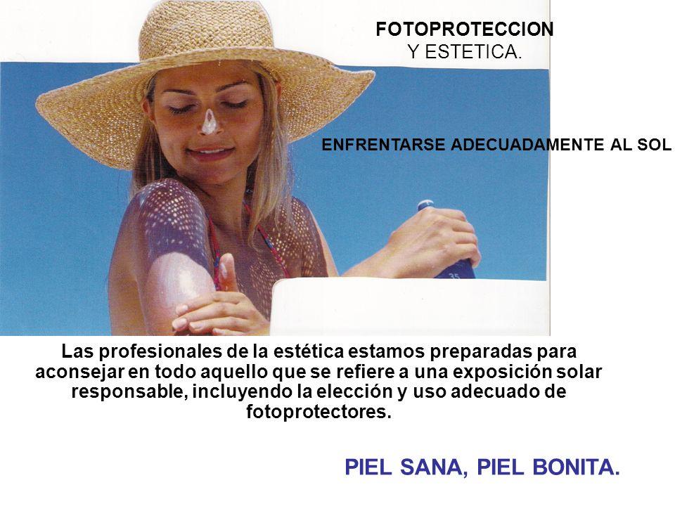 FOTOPROTECCION Y ESTETICA.