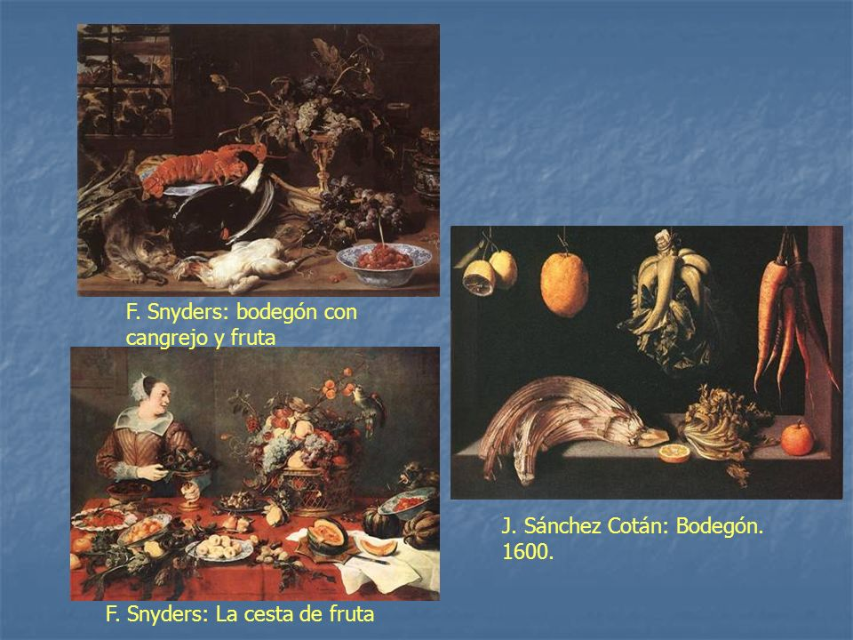 F. Snyders: bodegón con cangrejo y fruta