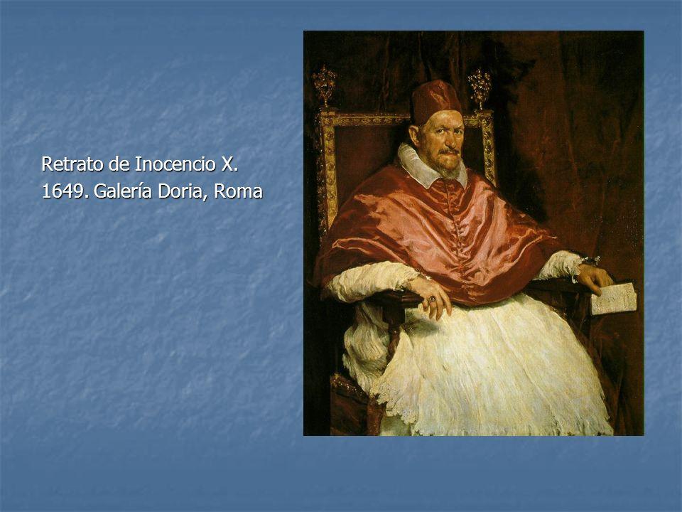 Retrato de Inocencio X. 1649. Galería Doria, Roma