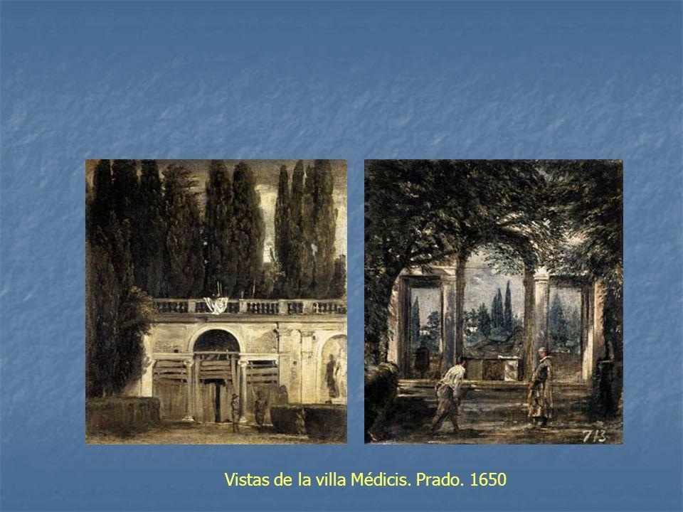 Vistas de la villa Médicis. Prado. 1650