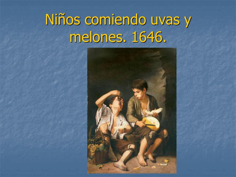 Niños comiendo uvas y melones. 1646.