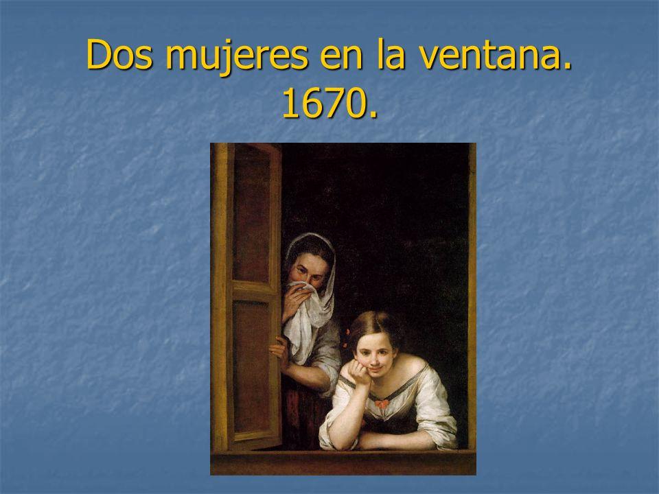 Dos mujeres en la ventana. 1670.