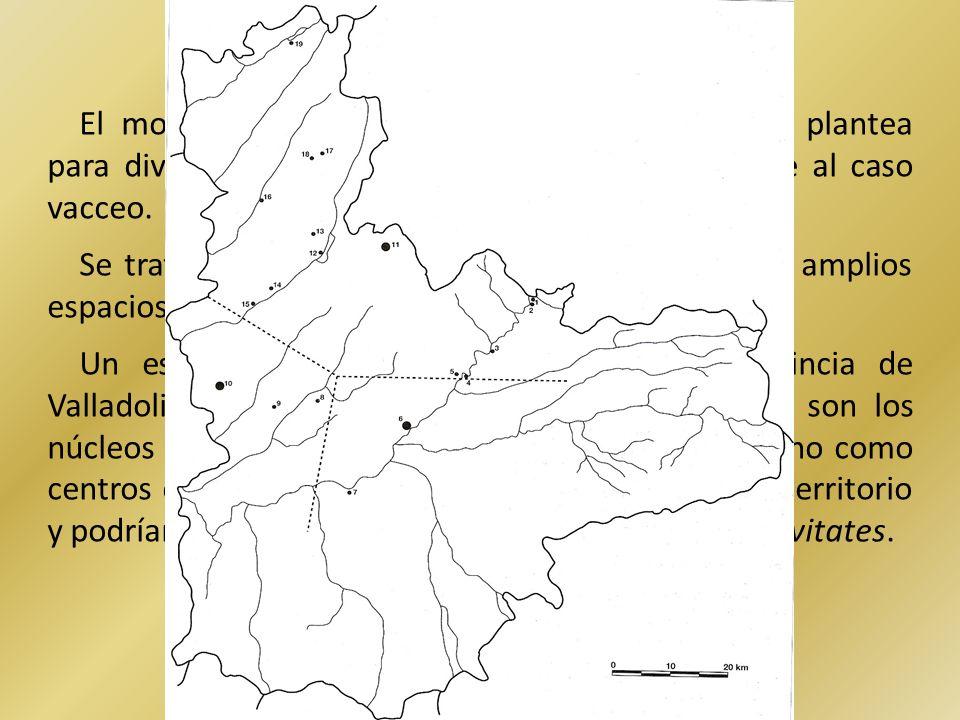 El modelo de poblamiento jerarquizado que se plantea para diversas regiones peninsulares no es aplicable al caso vacceo.