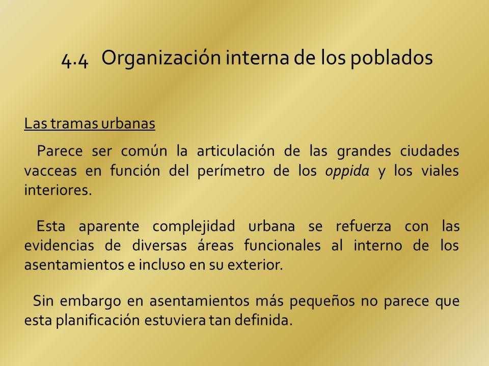 4.4 Organización interna de los poblados