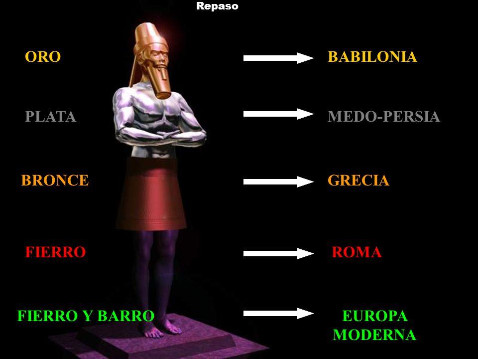 ORO BABILONIA PLATA MEDO-PERSIA BRONCE GRECIA FIERRO ROMA