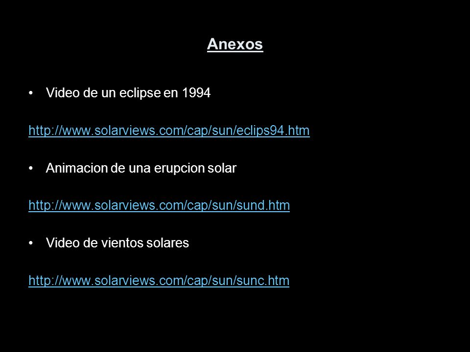 Anexos Video de un eclipse en 1994