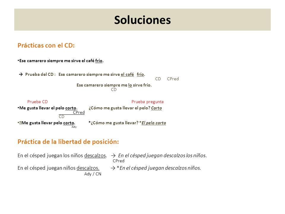 Soluciones Prácticas con el CD: Práctica de la libertad de posición: