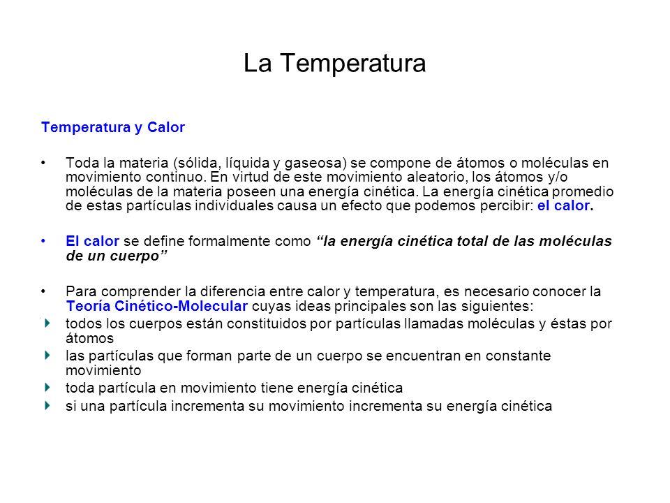 La Temperatura Temperatura y Calor