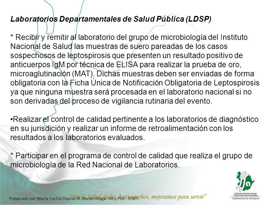 Laboratorios Departamentales de Salud Pública (LDSP)