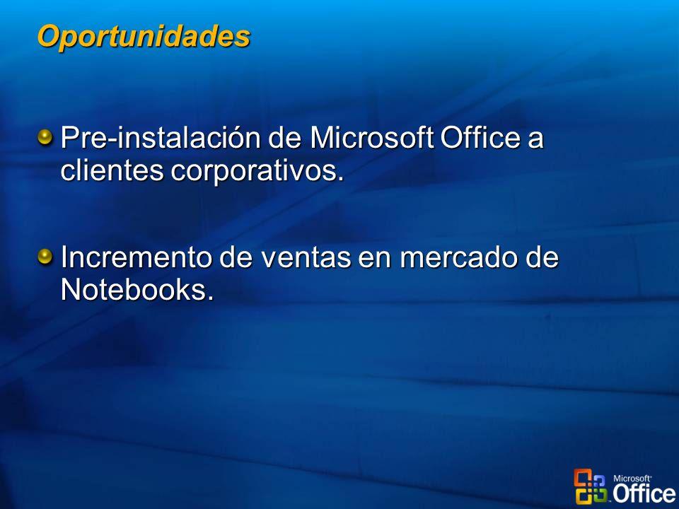 Pre-instalación de Microsoft Office a clientes corporativos.