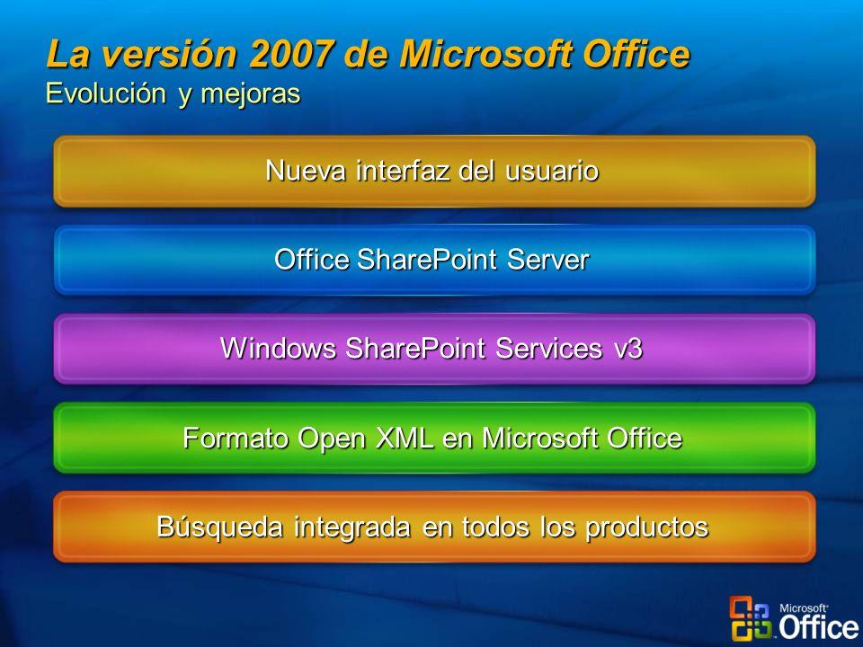La versión 2007 de Microsoft Office Evolución y mejoras
