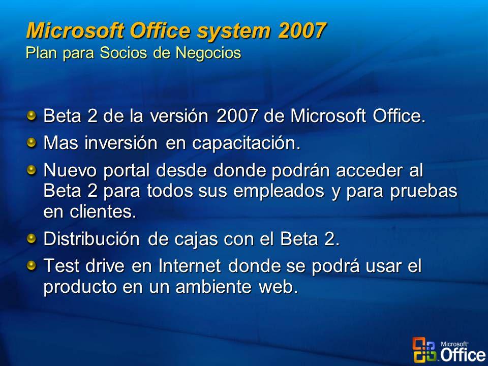 Microsoft Office system 2007 Plan para Socios de Negocios