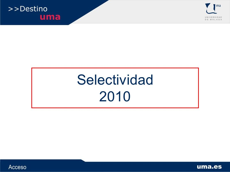 Selectividad 2010