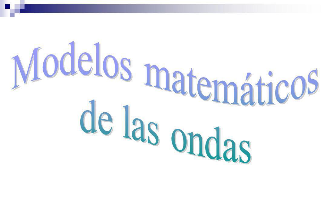 Modelos matemáticos de las ondas
