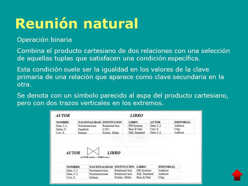Reunión natural Operación binaria