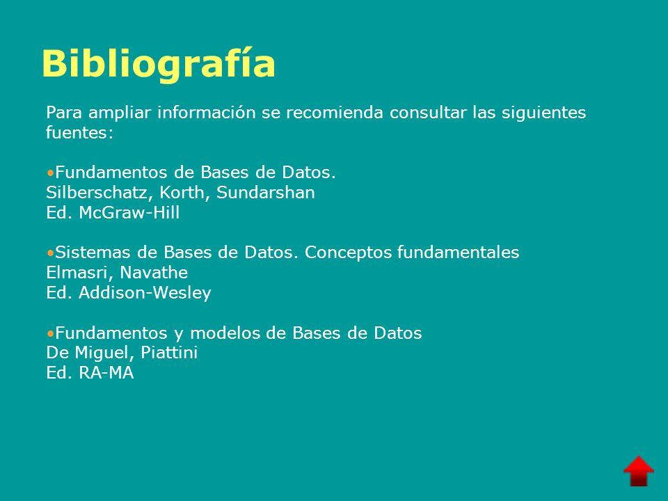 BibliografíaPara ampliar información se recomienda consultar las siguientes fuentes: