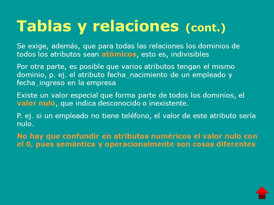 Tablas y relaciones (cont.)