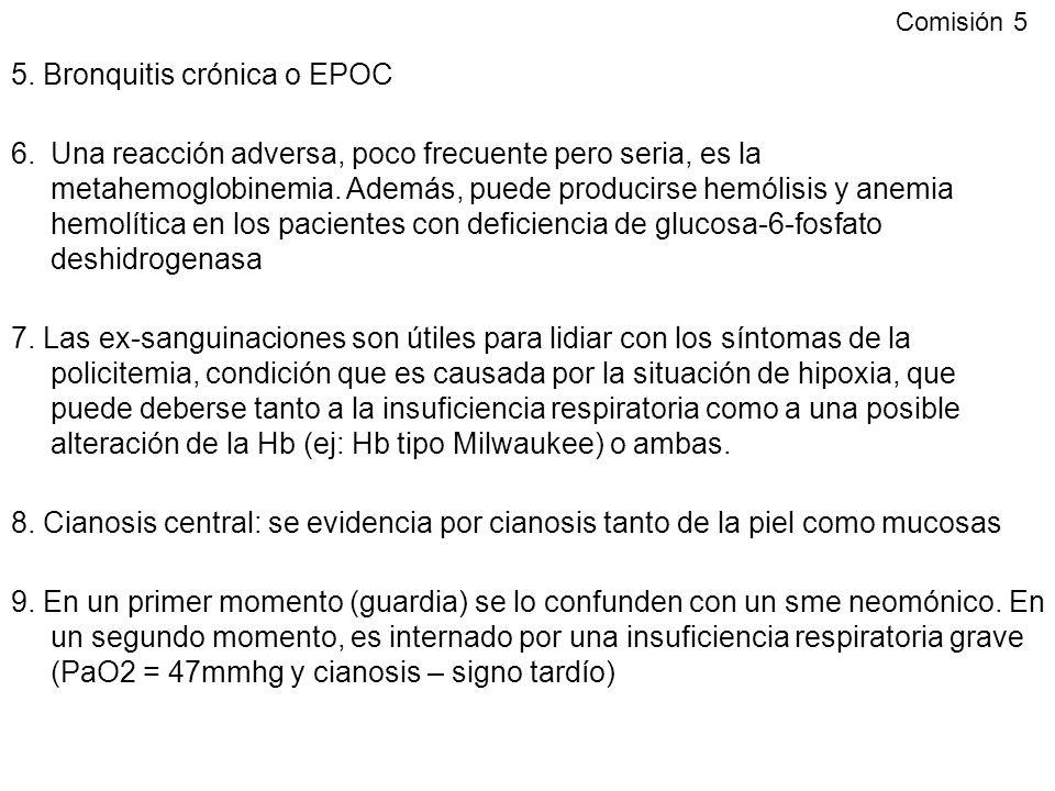 5. Bronquitis crónica o EPOC