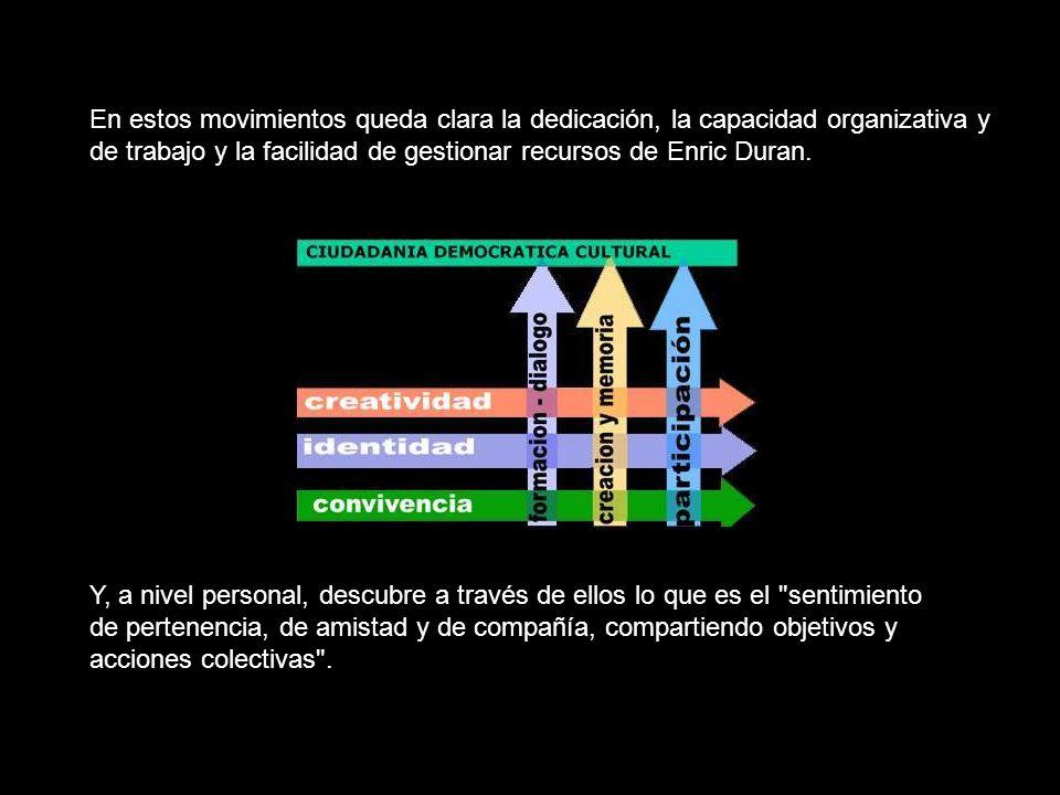 En estos movimientos queda clara la dedicación, la capacidad organizativa y de trabajo y la facilidad de gestionar recursos de Enric Duran.