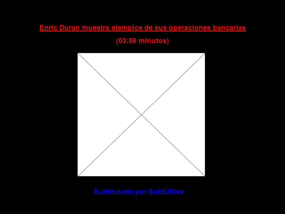 Enric Duran muestra ejemplos de sus operaciones bancarias