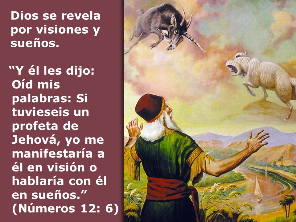 Dios se revela por visiones y sueños.