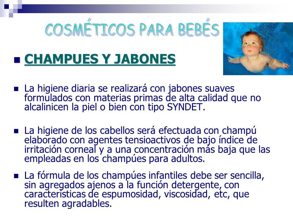 COSMÉTICOS PARA BEBÉS CHAMPUES Y JABONES